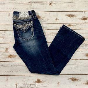 Miss Me Dark Wash Sequin Embellished Bootcut Jean